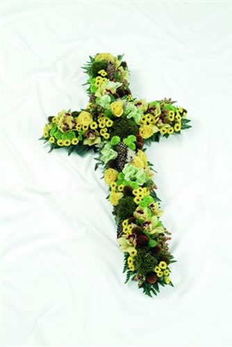 Cross Textured yellow & Green