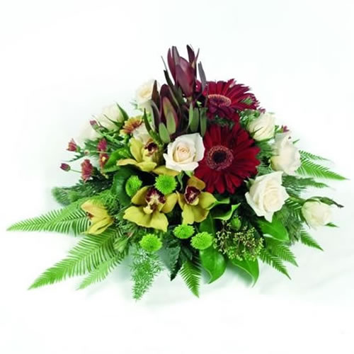 Cymbidium & Red Gerbera