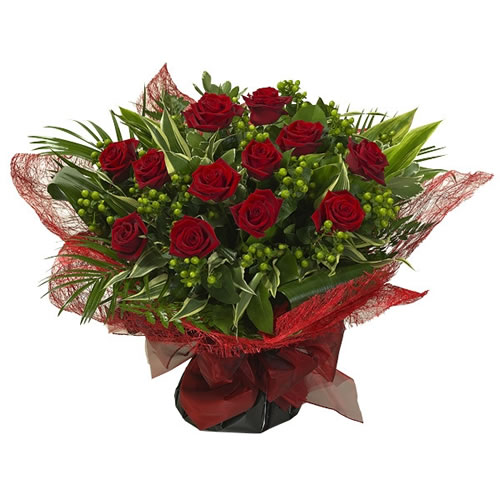 Dozen Red Rose Aqua