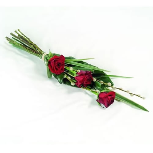 3 Red Rose Spray